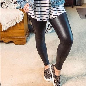Faux Leather High-Rise Leggings